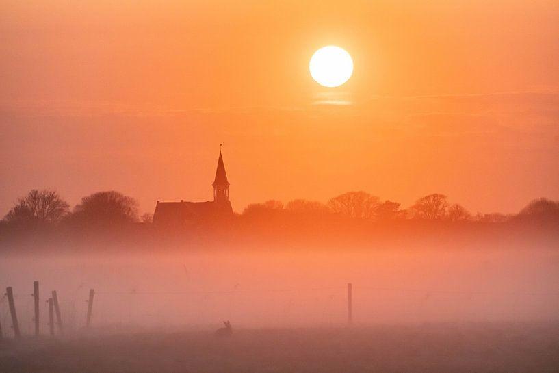 Mistige ochtend van Marjolein van Roosmalen