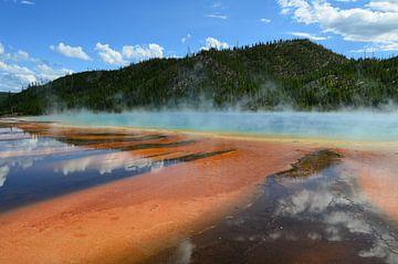 Grand Prismatic Spring Yellowstone van Monique ter Keurs