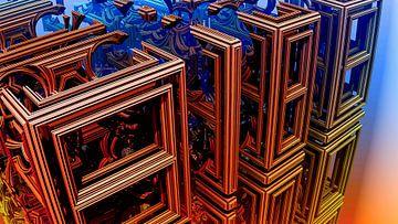 abstracte kubussen in de ruimte van W J Kok