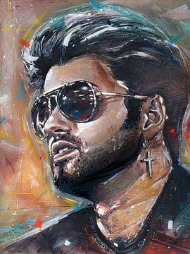 George Michael malerei von Jos Hoppenbrouwers