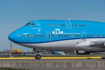 Boeing 747-400 van de KLM (City of Shanghai, registratie PH-BFW). van Jaap van den Berg