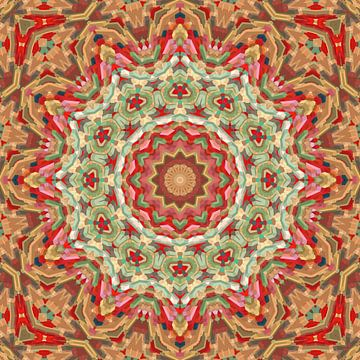 Mandala patroon 11 van Marion Tenbergen