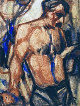 Arbeiter mit nacktem Oberkörper, Christian Rohlfs - 1920s von Atelier Liesjes