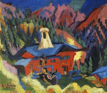Haus auf der Staffel, ERNST LUDWIG KIRCHNER, 1918-1919