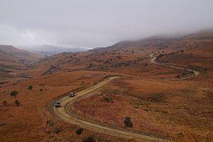 Vergezicht / View, Sani-pas, Lesotho, Zuid-Afrika van Maurits Bredius