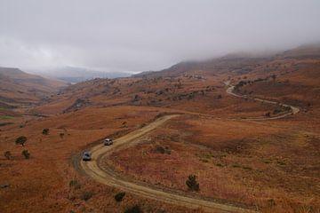 Vergezicht / View, Sani-pas, Lesotho, Zuid-Afrika von Maurits Bredius