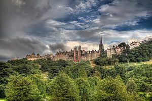 Uitzicht op Edinburgh in Schotland