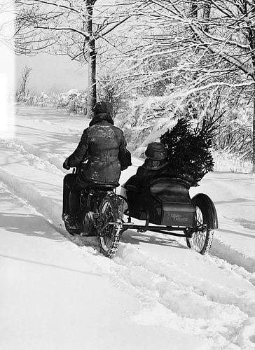 Christmas Sidecar Harley Davidson van