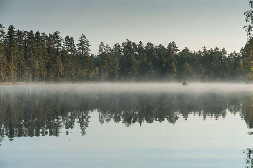 Misflarden op zweeds meer van Geertjan Plooijer