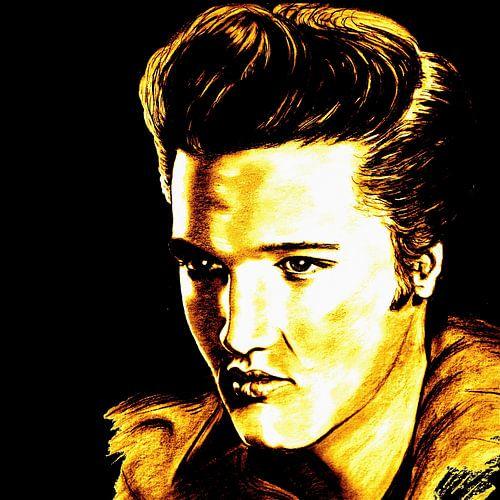 Elvis In Gold And Black van