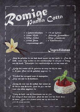 Dessert Recept - Panna Cotta van JayJay Artworks
