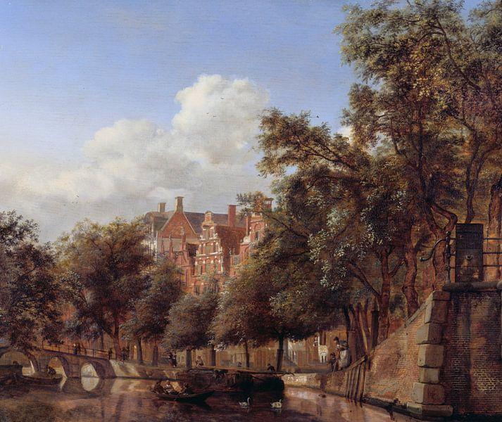Jan van der Heyden. Gezicht op de Herengracht, Amsterdam van 1000 Schilderijen
