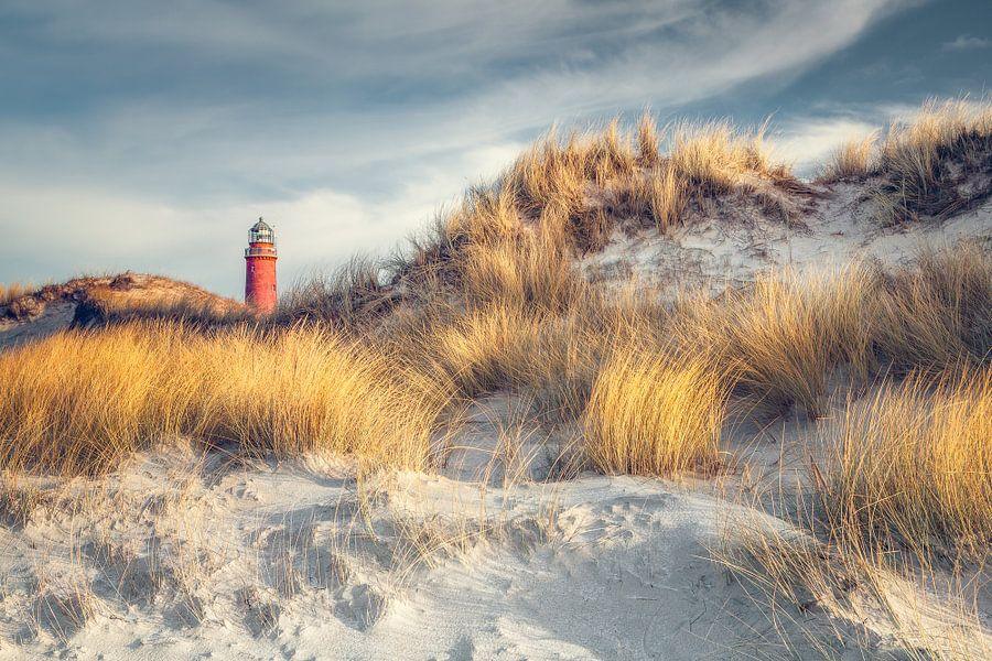 Leuchtturm Darßer Ort (Weststrand) van Dirk Wiemer
