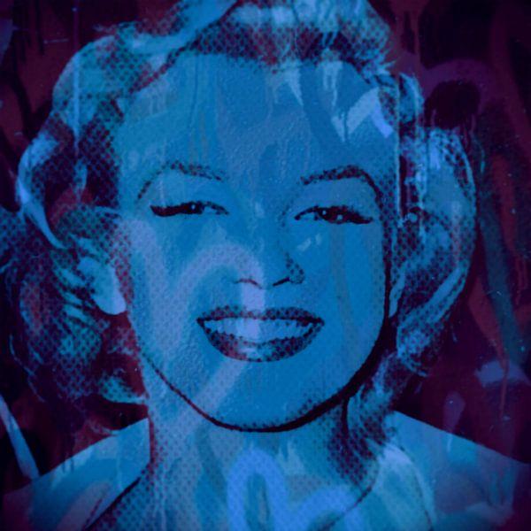 Marilyn Monroe Love Smile Pop Art van Felix von Altersheim