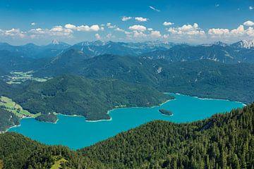 Walchensee met Karwendelgebergte, Beieren, Duitsland van Markus Lange