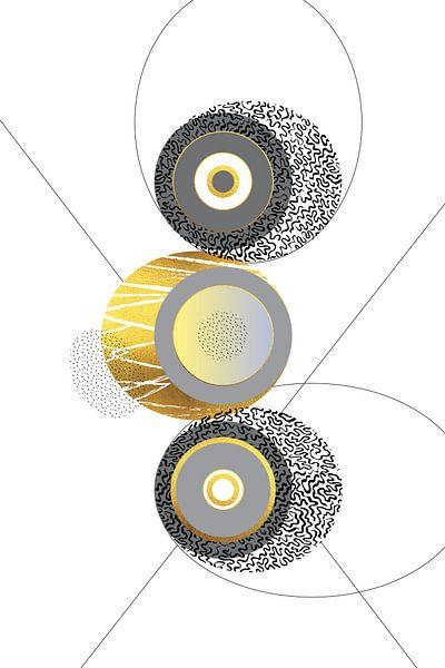 Elegantes Design Nr. 1 | Gold von Melanie Viola