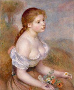 Een jong Meisje met Madeliefjes, Auguste Renoir