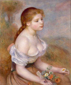 Une jeune fille avec des marguerites, Auguste Renoir sur