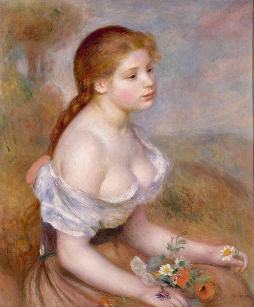 Een jong Meisje met Madeliefjes, Auguste Renoir van Meesterlijcke Meesters