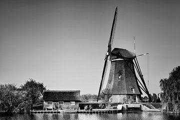 Altniederländisches Dorf Kinderdijk, UNESCO-Weltkulturerbe. Die Niederlande, Europa. von Tjeerd Kruse