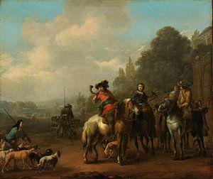 De terugkomst van de jacht, Johannes Lingelbach