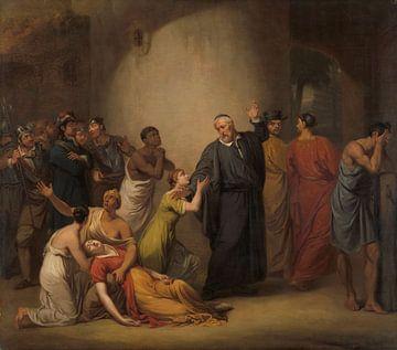 Die Selbstaufopferung des Predigers Hambroeck auf Formosa, 1662, Jan Willem Pieneman, 1810.