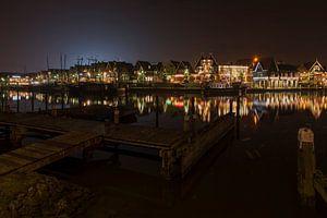 Avondfoto in Haven van Volendam