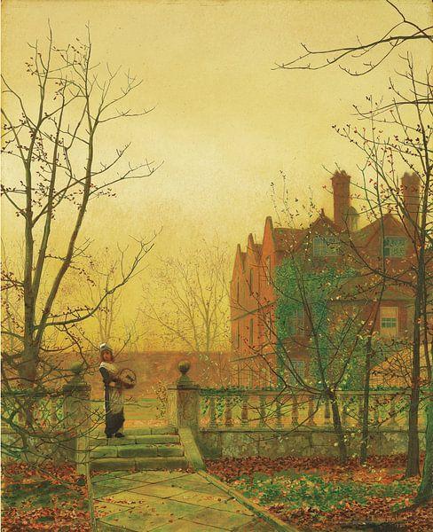Autumn Gold, John Atkinson Grimshaw von Meesterlijcke Meesters