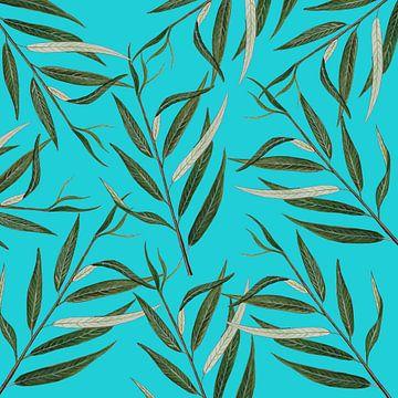 Blätter einer Trauerweide. von Jasper de Ruiter