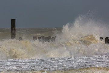 Sturm auf der Nordsee von Peter Leenen