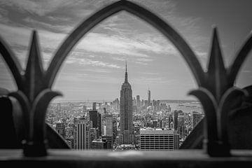 New York City uitzicht zwart wit van Sander Knoester