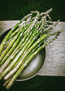 Groene asperges van Laura van Driel