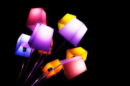 Glow festival gekleurde lampen van Greetje van Son