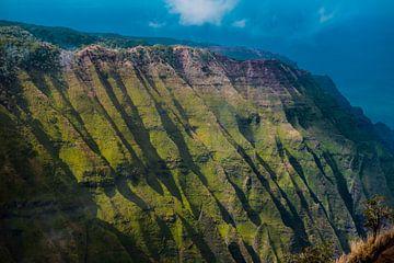 De groene heuvels van Nā Pali Coast