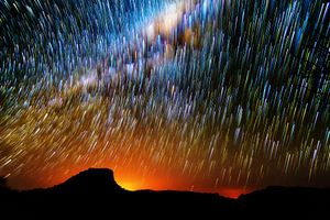 Nachthemel Madagaskar van