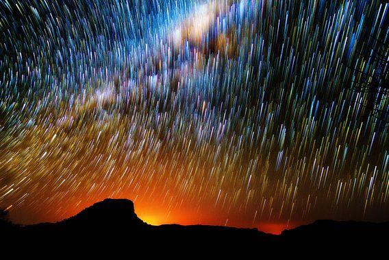 Nachthemel Madagaskar van Dennis van de Water