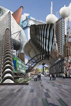 Collage Eindhoven City. Faits saillants de la ville. sur Marianne van der Zee