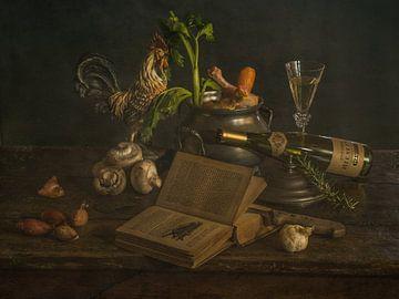 Coq au vin blanc van Miriam Meijer, en plein campagne.....