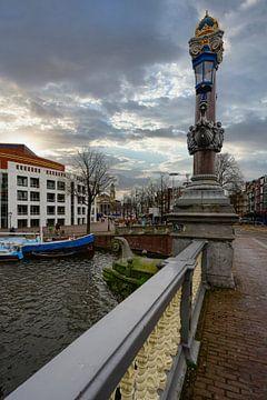De Blauwbrug in Amsterdam van Peter Bartelings Photography