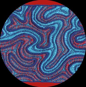 Stitches - Coral van > VrijFormaat <