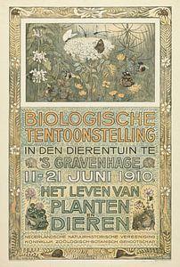 Poster of the Biologische Tentoonstelling (Biological Exhibition), Theo van Hoytema, 1910