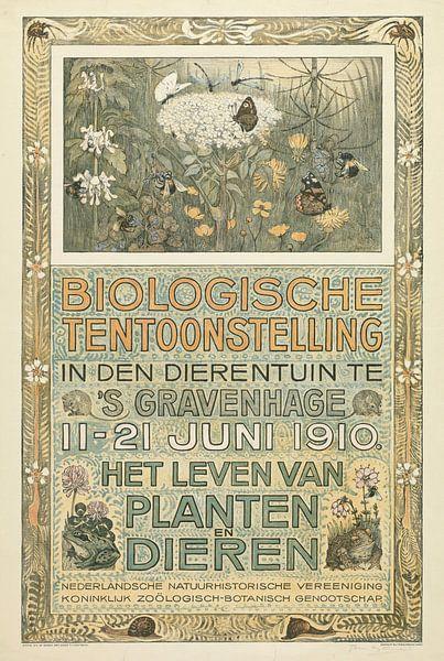 Poster of the Biologische Tentoonstelling (Biological Exhibition), Theo van Hoytema, 1910 van 1000 Schilderijen