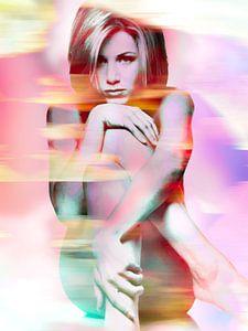 Jennifer Aniston Akt Digitales Kunstporträt von Art By Dominic