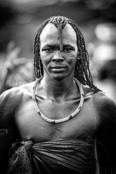 Massai-Porträt Mann von Dave Oudshoorn