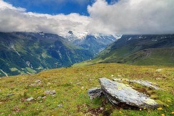 Landschap in de bergen bij Grimentz van