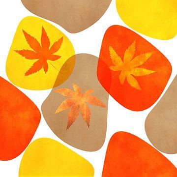 Herfst Abstract van Violetta Honkisz