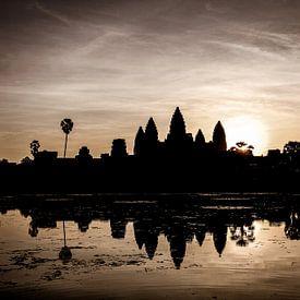 Sonnenaufgang über Angkor Wat von Levent Weber