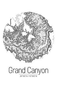 Grand Canyon | Kaart Topografie (Minimaal) van ViaMapia