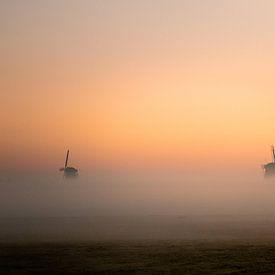 2 van de 3 Stompwijkse molens van Danielle Kramer