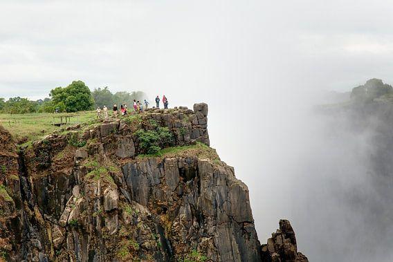 Zambia / Livingstone / Uitzicht op de Victoria watervallen in de richting van Zimbabwe / 2011